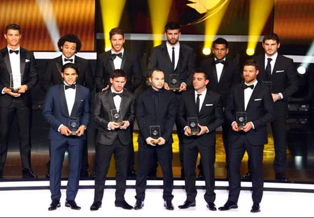 La Liga dominates as Messi & Ronaldo make 2012 FIFPro World XI