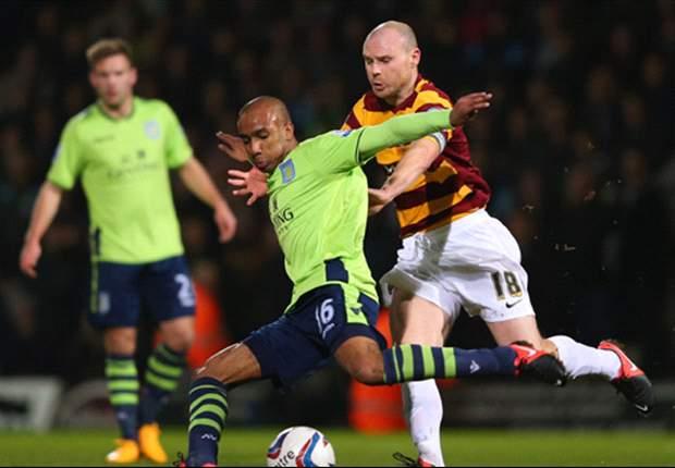 Bradford stunt flink tegen Aston Villa