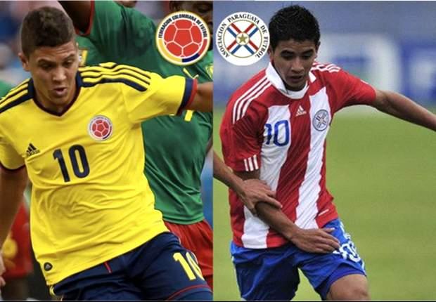 Colombia y Paraguay en el debut Sub-20