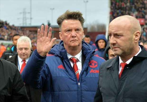 Goodbye from Van Gaal? Man Utd manager waves to travelling fans