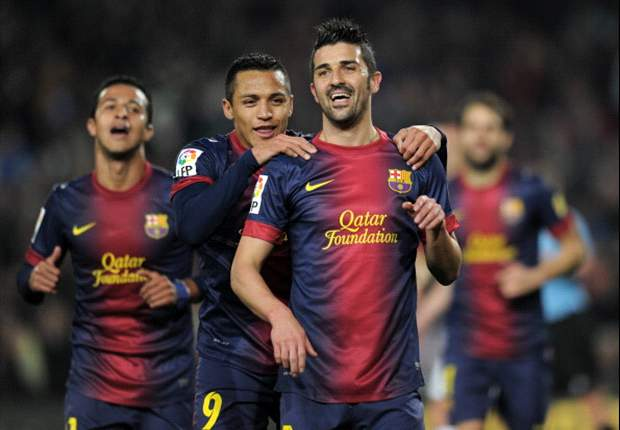 Barcelona 5-0 Cordoba (Agg 7-0): Doubles from Villa and Alexis help holders stroll into quarter-finals