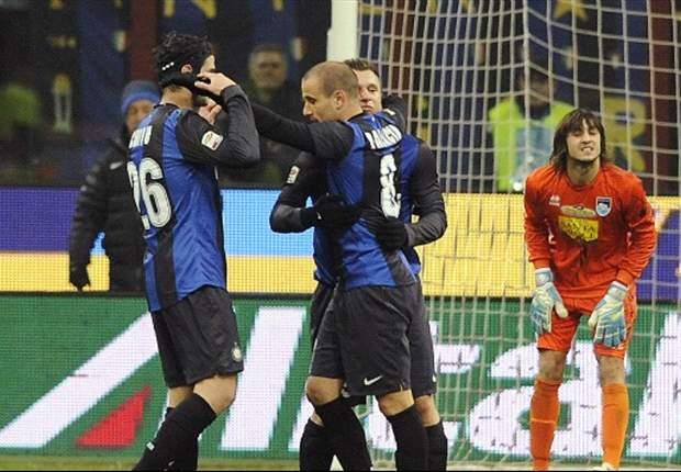 Palacio y Guarín le dan la victoria al Inter sobre el Pescara
