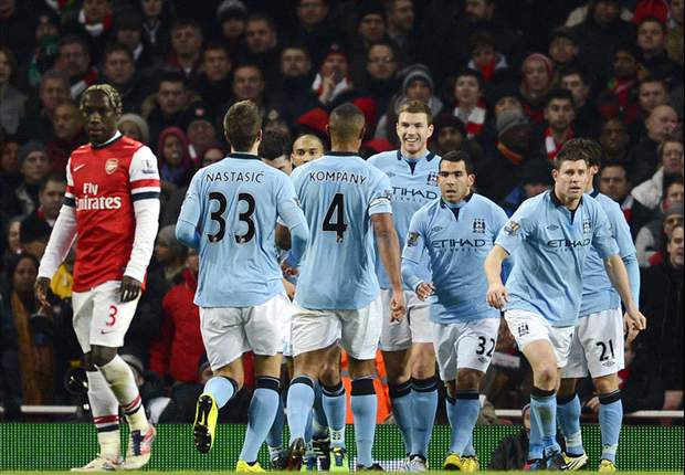 Linesman prompts Lescott to thank Manchester City fans after win over Arsenal