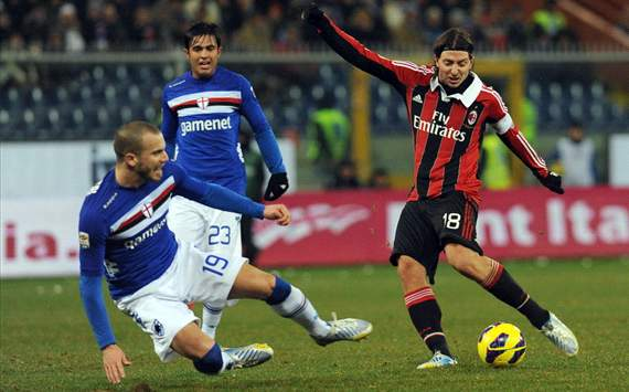 246287hp2 Sampdoria v AC Milan: Watch a Live Stream of the Serie A match – available in the UK