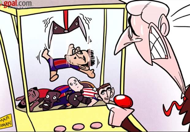 La tira cómica del día: A Wenger le duele ver a Villa lejos del Arsenal