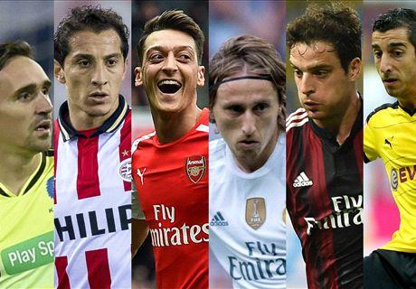 ¿Los mejores centrocampistas ofensivos de 2015-16?