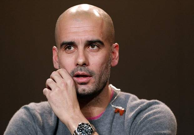 Pep Guardiola held his first press conference as manager of Bayern Munich.