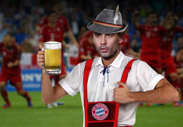 Pep Guardiola llega al Bayern Munich con una cerveza en la mano