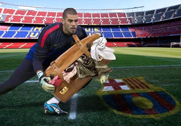 Víctor Valdés prepara sus maletas para salir del Barcelona