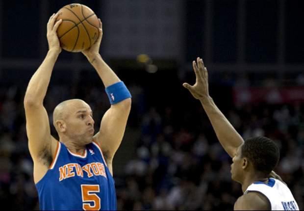 New York Knicks guard Jason Kidd visits Tottenham Hotspur