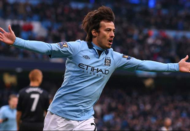 Manchester City 2-0 Fulham: Silva double reduces the gap at the top to four points