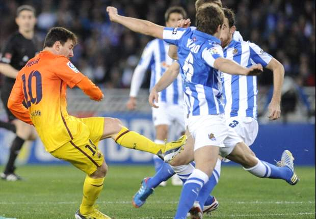 Real Sociedad 3-2 Barcelona: Another Messi milestone but Basques battle back to end Blaugrana's unbeaten run