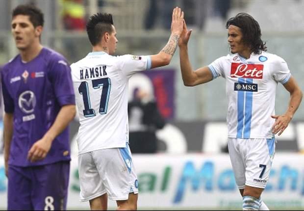 Pese al gol 100º de Cavani, Napoli no pudo con Fiorentina y ahora también es escolta de Juventus