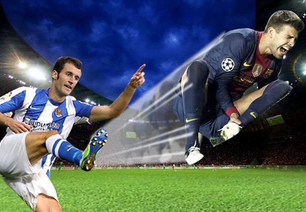 La Real Sociedad le pegó una patada al Barcelona