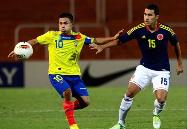 Colombia venció a Ecuador 2 goles por 1