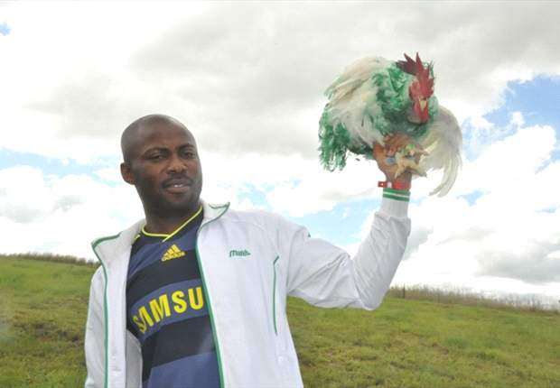 Super chicken, optimistic fans troop to Nigeria's opening game