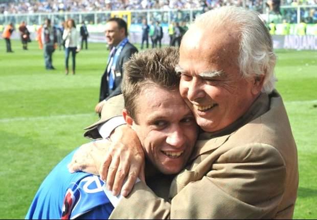 """Il figliol prodigo Cassano rende omaggio al presidente Garrone: """"Oggi uno dei giorni più brutti della mia vita, il patron rimarrà nel mio cuore"""""""