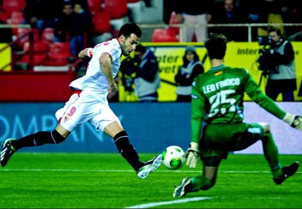 Sevilla goleó al Zaragoza y está en semis de Copa