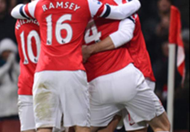 Arsenal na rust vlammend langs West Ham