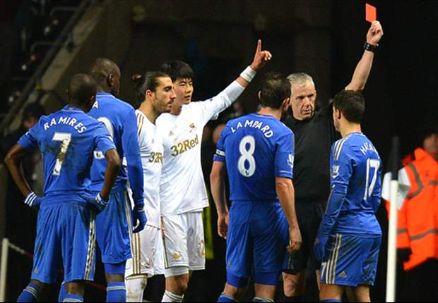 Hazard sent off for kicking ball boy as Chelsea frustrations boil over