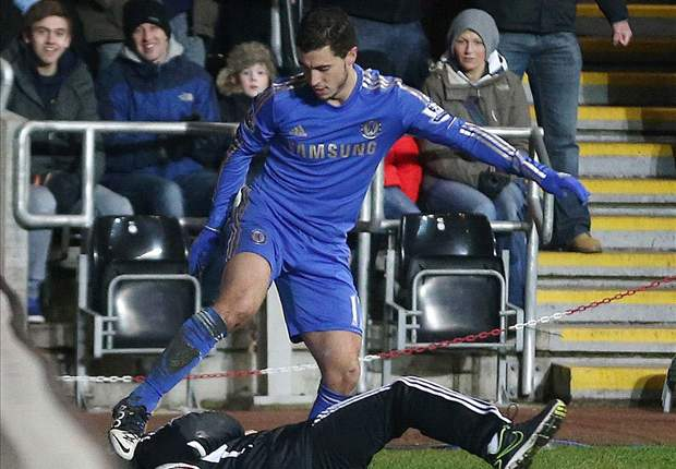 South Wales police drop investigation into Hazard kick on Swansea ball boy