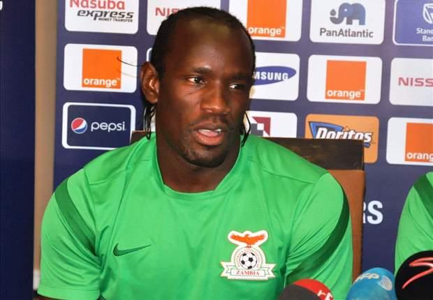 Zambia goalkeeper Kennedy Mweene at press conference
