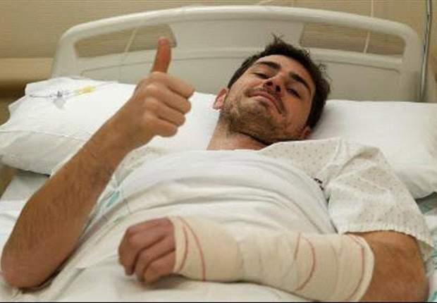 E' più grave del previsto l'infortunio a Casillas: il portiere del Real Madrid, operato oggi, dovrà star fuori tre mesi
