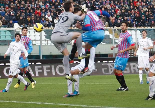 Lucas Castro hace posible la remontada del Catania ante la Fiorentina