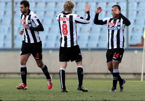 El colombiano Muriel le da el triunfo al Udinese y hunde más al Siena