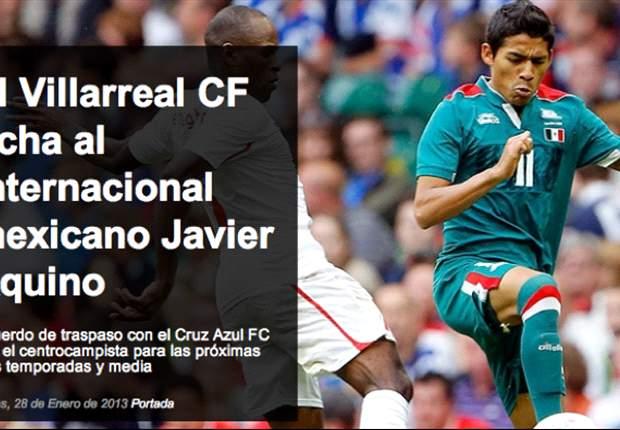 El Villarreal ficha a Javier Aquino, del Cruz Azul