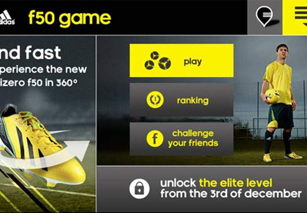 Get the game behind the adizero f50 boot