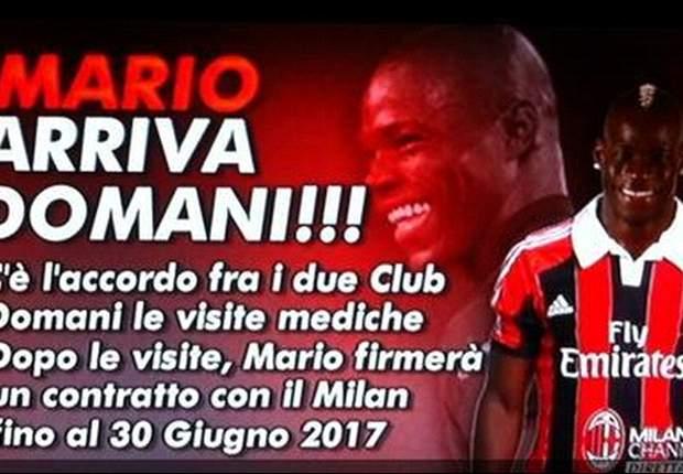 E' ufficiale, il Milan piazza il colpaccio del calciomercato invernale: Balotelli è rossonero!