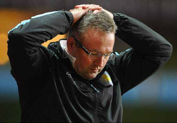 Aston Villa boss Lambert not 'unduly worried' about relegation