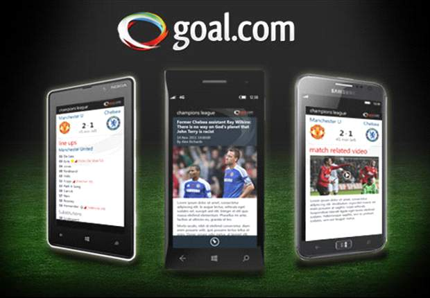 Descarga la nueva app de Goal.com para Windows 8!