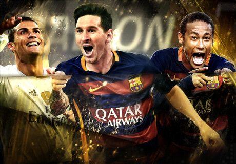 Messi, Ronaldo et les nominés pour le Ballon d'Or 2016