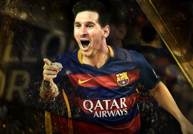 Lionel Messi wins 2015 Ballon d'Or