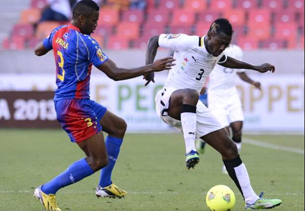 Ghana forward Asamoah Gyan in action against Cape Verde