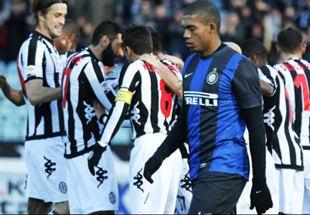 Serie A, 23ª giornata - Per Inter e Lazio clamorose sconfitte contro Siena e Genoa, che alimentano le speranze di salvezza. Ancora ko il Palermo