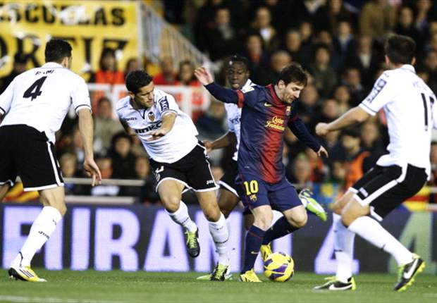 Altro record per Messi: a segno contro il Valencia per la dodicesima volta consecutiva nella Liga spagnola