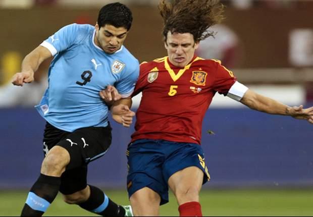 Puyol, homenajeado por sus 100 partidos con España