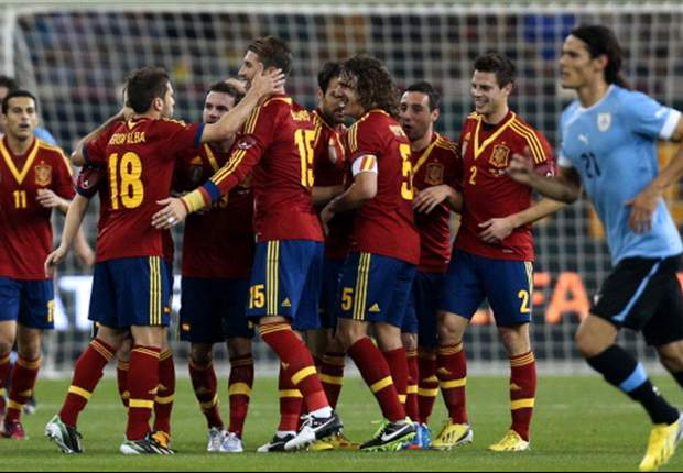 Histórico, nueve blaugranas jugando en España