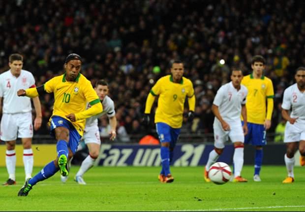 Amichevoli internazionali, Inghilterra-Brasile 2-1: Dinho e Neymar sbagliano, Rooney e Frankie no! Trionfo dei Tre Leoni