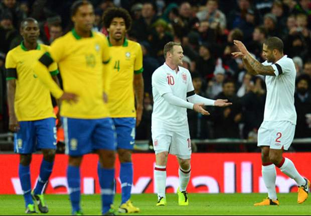 England 2-1 Brazil: Rooney & Lampard secure Wembley win