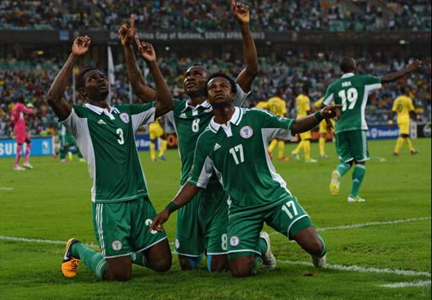 Super Eagles celebrates one of the goals in their game against Mali
