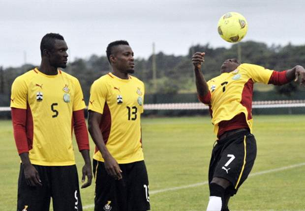 Mohamed Awal during Ghanaian national team training session
