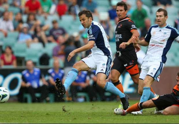 Sydney FC-Brisbane Roar 2-1: Segna sempre Del Piero, sorpasso in classifica dei Sky Blues