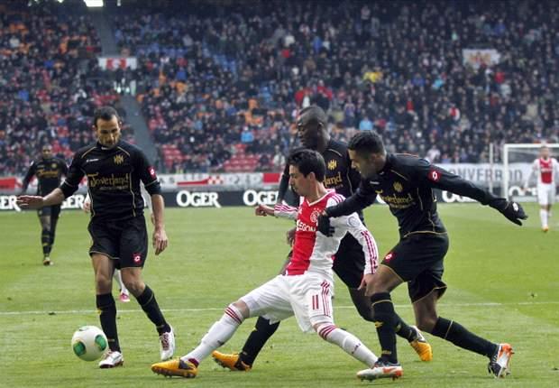 Matig Ajax morst punten tegen Roda