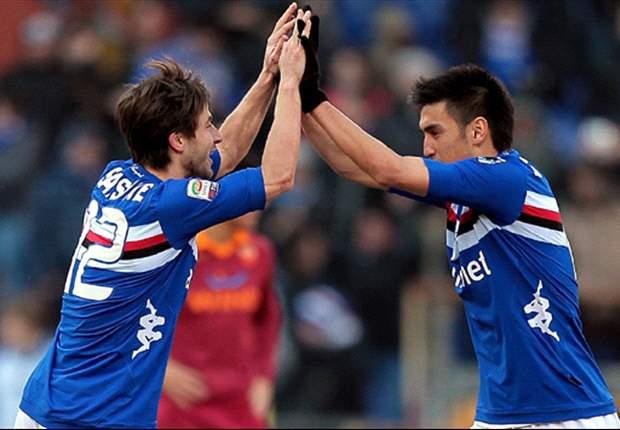 La Sampdoria si carica per il match contro la Roma