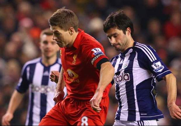 Liverpool 0-2 West Brom: McAuley & Lukaku make Reds pay after Gerrard penalty miss