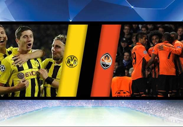 Las alineaciones del Shakhtar - Borussia Dortmund